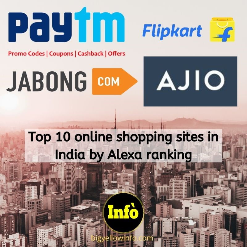 Top 10 online shopping sites in India by Alexa ranking BigYellowInfo.com